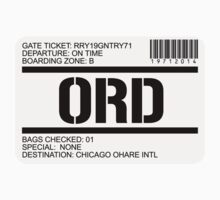 Chicago airport destination stamp by GentryRacing