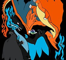 Tribalish Mega Charizard X (and Y) by vaguelygenius