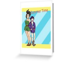 Summer Time - Momo + Kyouka Greeting Card