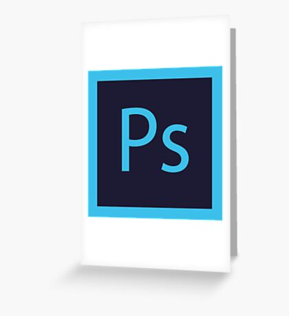 Logo Photoshop - Flat Greeting Card
