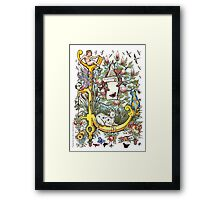 """The Illustrated Alphabet Capital  L  """"Getting personal"""" Framed Print"""