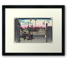Nihonbashi - Hiroshige Ando - 1830 - woodcut Framed Print