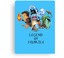 Legend of Squirtle Canvas Print