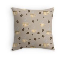 Coffee Mood Print Throw Pillow