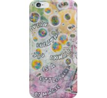 Bubbles make your soul smile iPhone Case/Skin