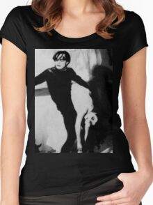 Scene from The Cabinet of Dr Caligari Women's Fitted Scoop T-Shirt