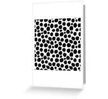 Ink circles pattern Greeting Card