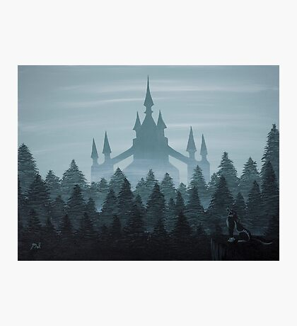 Misty Castle Photographic Print