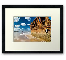 Fishing for Wrecks - SS Maheno Framed Print