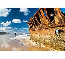 Fishing for Wrecks - SS Maheno Photographic Print