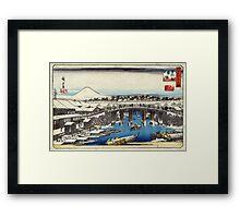 Nihonbashi Clearing After Snow - Hiroshige Ando - 1837 - woodcut Framed Print