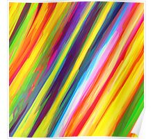 Rainbow Candy Stripes Poster