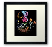 Garden Over the Clouds Framed Print