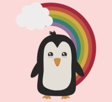 Rainbow Penguin   Kids Tee