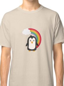 Rainbow Penguin   Classic T-Shirt