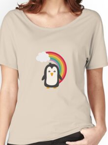 Rainbow Penguin   Women's Relaxed Fit T-Shirt