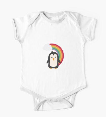 Rainbow Penguin   One Piece - Short Sleeve