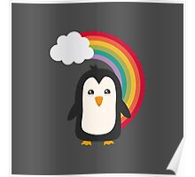 Rainbow Penguin   Poster