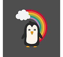 Rainbow Penguin   Photographic Print