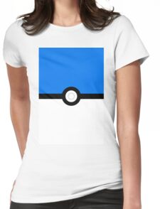 pokemon mystic team pokeball blue Womens Fitted T-Shirt
