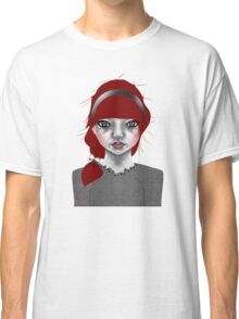 005 Red Hair & a Pretty Grey Bow Classic T-Shirt