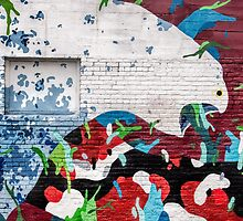 Brick wall as art canvas by Celeste Mookherjee