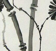 Ink Sumi-E, Simple Stalks to Flowers by wearetough