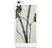 Ink Sumi-E, Simple Stalks to Flowers iPhone Case/Skin