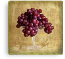 Grungy Grapes And Crystal  Canvas Print