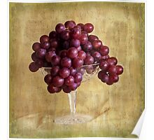 Grungy Grapes And Crystal  Poster