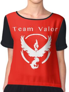 Team Valor (wh/red) Chiffon Top