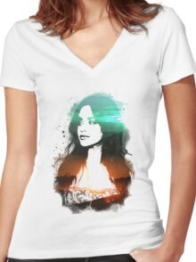 Camila Cabello - Double exposure Women's Fitted V-Neck T-Shirt
