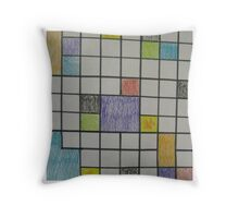 Its hip to be square! Throw Pillow