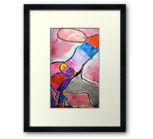Water Color Cow Framed Print