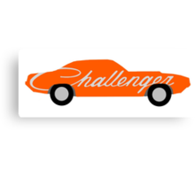 Stylized Dodge Challenger Canvas Print