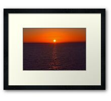 The Perfect Sunset  Framed Print