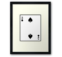 two of spades Framed Print