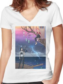 Don't Sink Women's Fitted V-Neck T-Shirt