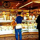Cheese shop, Nachmarkt, Vienna, Austria by Margaret  Hyde