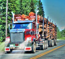 British Columbian Logging Truck, Canada by Skye Ryan-Evans
