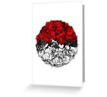Pokeball with thousand pokemons Greeting Card