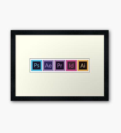 Logo Logiciels Adobe - Flat Framed Print
