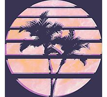 Vaporwave Palm Trees in the Sun - Orange Photographic Print