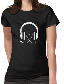 LOVE MUSIC PRINTED FUNNY LOGO Womens Fitted T-Shirt