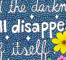 Give Light, Desiderius Erasmus Quote, Lettering, Flower Doodle, Inspirational Sticker