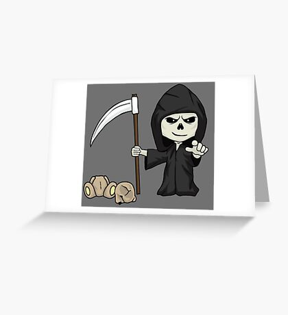 Chibi Death Greeting Card