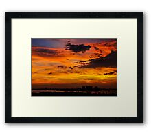 Burning sunset  Framed Print