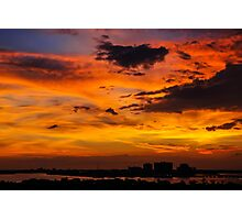 Burning sunset  Photographic Print
