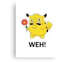 Pikachu WEH! Canvas Print