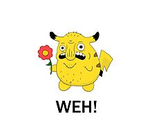 Pikachu WEH! Photographic Print